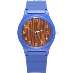 Texture Tileable Seamless Wood Round Plastic Sport Watch (S)