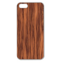 Texture Tileable Seamless Wood Apple Seamless iPhone 5 Case (Clear)
