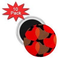 Heart Pattern 1.75  Magnets (10 pack)