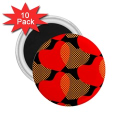 Heart Pattern 2.25  Magnets (10 pack)