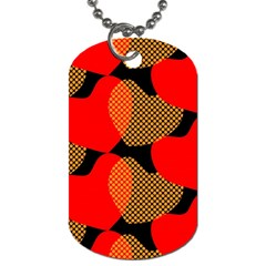 Heart Pattern Dog Tag (One Side)