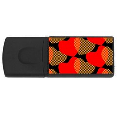 Heart Pattern USB Flash Drive Rectangular (2 GB)