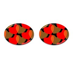 Heart Pattern Cufflinks (oval)