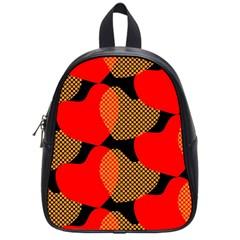 Heart Pattern School Bags (Small)