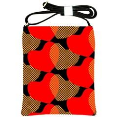 Heart Pattern Shoulder Sling Bags