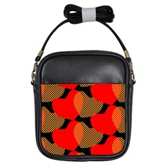 Heart Pattern Girls Sling Bags