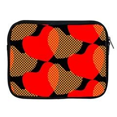 Heart Pattern Apple iPad 2/3/4 Zipper Cases