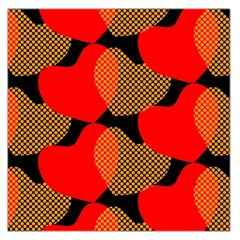 Heart Pattern Large Satin Scarf (Square)
