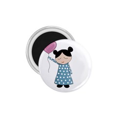Valentines day girl 1.75  Magnets