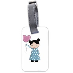 Valentines day girl Luggage Tags (One Side)
