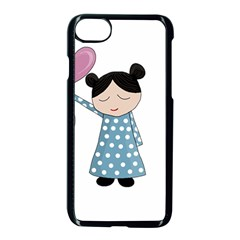 Valentines day girl Apple iPhone 7 Seamless Case (Black)