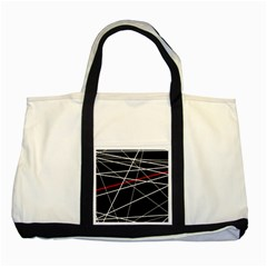 Lines Two Tone Tote Bag