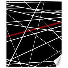 Lines Canvas 8  x 10