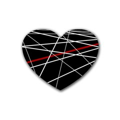 Lines Rubber Coaster (Heart)