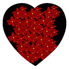 Red bouquet  Jigsaw Puzzle (Heart)