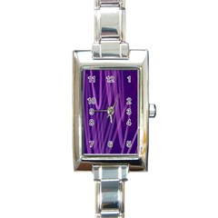 The Background Design Rectangle Italian Charm Watch