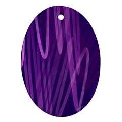 The Background Design Ornament (Oval)