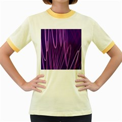 The Background Design Women s Fitted Ringer T-Shirts