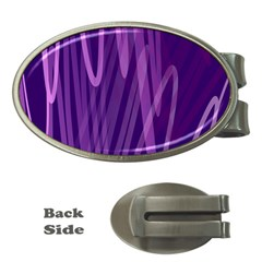 The Background Design Money Clips (Oval)
