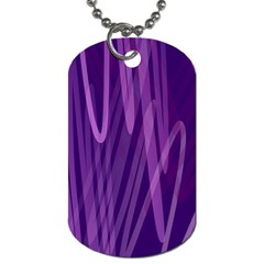 The Background Design Dog Tag (One Side)