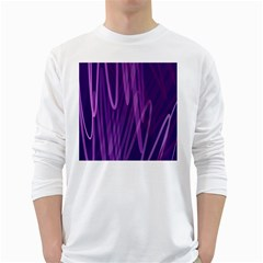 The Background Design White Long Sleeve T-Shirts