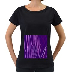 The Background Design Women s Loose-Fit T-Shirt (Black)