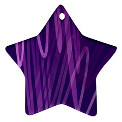 The Background Design Star Ornament (Two Sides)