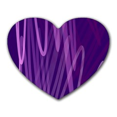 The Background Design Heart Mousepads