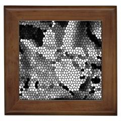 Mosaic Stones Glass Pattern Framed Tiles