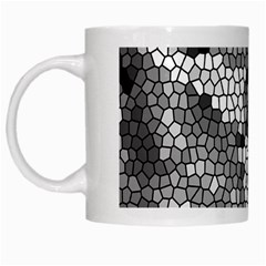 Mosaic Stones Glass Pattern White Mugs