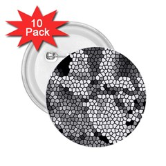 Mosaic Stones Glass Pattern 2.25  Buttons (10 pack)