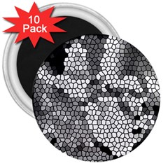 Mosaic Stones Glass Pattern 3  Magnets (10 Pack)