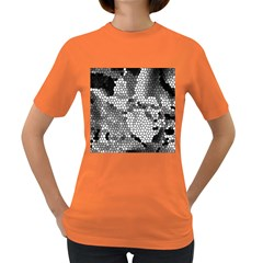 Mosaic Stones Glass Pattern Women s Dark T-Shirt
