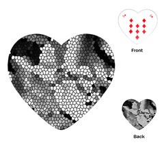 Mosaic Stones Glass Pattern Playing Cards (Heart)