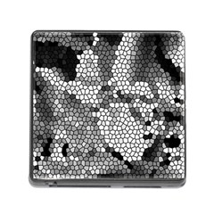 Mosaic Stones Glass Pattern Memory Card Reader (Square)