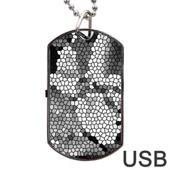 Mosaic Stones Glass Pattern Dog Tag USB Flash (Two Sides)