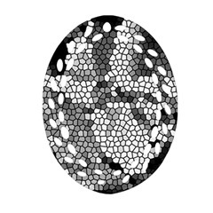Mosaic Stones Glass Pattern Ornament (oval Filigree)