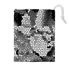 Mosaic Stones Glass Pattern Drawstring Pouches (extra Large)