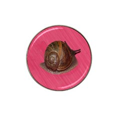 Snail Pink Background Hat Clip Ball Marker (4 pack)