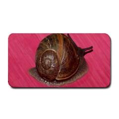 Snail Pink Background Medium Bar Mats