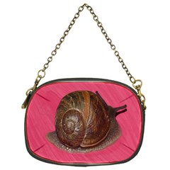 Snail Pink Background Chain Purses (One Side)