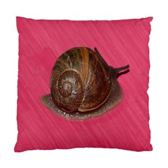 Snail Pink Background Standard Cushion Case (One Side)