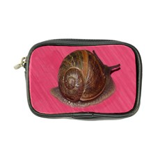 Snail Pink Background Coin Purse
