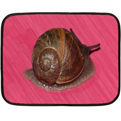 Snail Pink Background Double Sided Fleece Blanket (Mini)