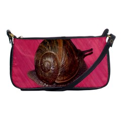 Snail Pink Background Shoulder Clutch Bags