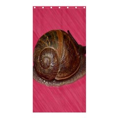 Snail Pink Background Shower Curtain 36  X 72  (stall)