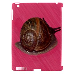 Snail Pink Background Apple iPad 3/4 Hardshell Case (Compatible with Smart Cover)