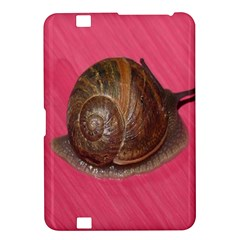 Snail Pink Background Kindle Fire Hd 8 9