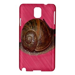 Snail Pink Background Samsung Galaxy Note 3 N9005 Hardshell Case