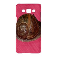 Snail Pink Background Samsung Galaxy A5 Hardshell Case